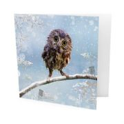 Pack of 10 Childline Charity Christmas Cards - Owl